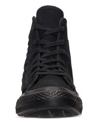 Converse - Black Women's Chuck Taylor All Star Elevated Woven Hi Casual Sneakers From Finish Line - Lyst