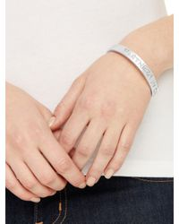 kate spade new york | Metallic Partners In Crime Idiom Bangle | Lyst