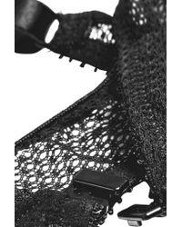 Yasmine Eslami - Black Natacha Mesh-paneled Swiss-dot Jersey Soft-cup Bra - Lyst