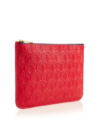 Liberty - Red Medium Raspberry Iphis Leather Pouch - Lyst