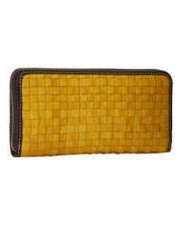 Dooney & Bourke - Yellow Tessuta Large Zip Around - Lyst