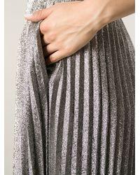 Cedric Charlier - Metallic Pleated Skirt - Lyst