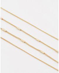 ASOS | Metallic Fine Bar Multirow Belly Chain | Lyst