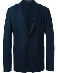 Emporio Armani - Blue Classic Formal Blazer for Men - Lyst