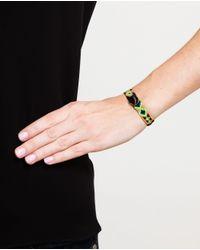 Dezso by Sara Beltran | Green Hand-woven Obsidian Bracelet | Lyst