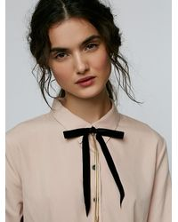 Free People - Metallic Bow Tie Bolo Necklace - Lyst