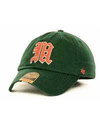 47 Brand | Green Miami Hurricanes Ncaa '47 Franchise Cap for Men | Lyst