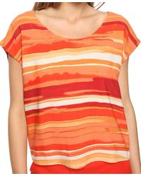 Forever 21 - Orange Abstract Watercolor Top - Lyst
