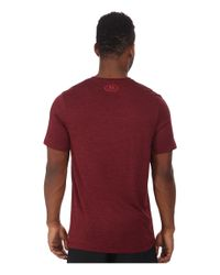 Under Armour | Red Tech V-neck for Men | Lyst