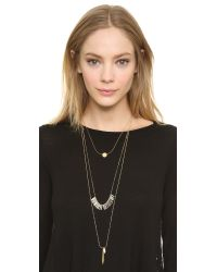 Madewell | Metallic Poolside Layering Necklace - Vintage Gold | Lyst