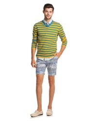 Mr Turk - Yellow Timothy Stripe V-Neck for Men - Lyst