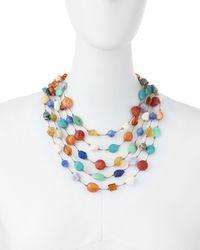 Margo Morrison | Multicolor Carnival Five-strand Multi-stone Necklace | Lyst