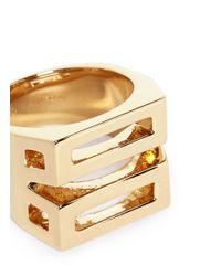 Chloé - Metallic 'bianca' Geometric Ring - Lyst