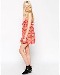 ASOS | Orange Petite Cami Dress In Festival Star Print | Lyst
