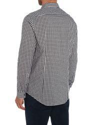 Michael Kors | Black Zachary Gingham Shirt for Men | Lyst