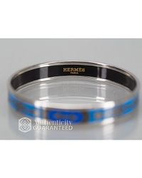 Hermès | Blue Pre-owned: Rope Enamel Pm Bracelet | Lyst