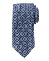 Neiman Marcus - Blue Circle-link Silk Tie for Men - Lyst