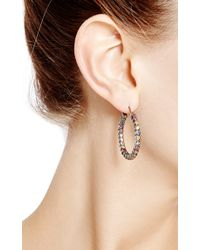 She Bee Gem | Multicolor Youre So Fabulous Silver and Sapphire Hoop Earrings | Lyst