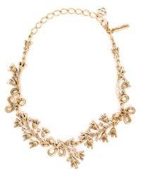 Oscar de la Renta | Metallic Foliage Motif Necklace | Lyst