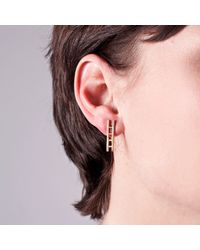 Edge Only - Metallic Ladder Earrings Gold - Lyst