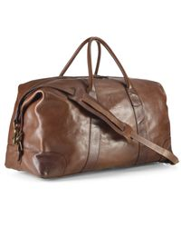 Polo Ralph Lauren - Brown Core Leather Duffle Bag for Men - Lyst