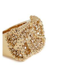 Chloé - Metallic 'Eleanor' Crystal Pavé Milgrain Ring - Lyst