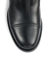 Miu Miu Black Leather Sidezip Ankle Boots