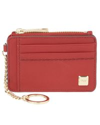 Nine West - Red Bleeker Smooth Leather Card Holder - Lyst
