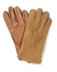 Polo Ralph Lauren | Brown Shearling And Leather Gloves for Men | Lyst