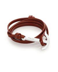 Miansai | Brown Modern Anchor Leather Wrap Bracelet | Lyst