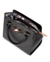 Ted Baker | Black Hollie Loop Bow Satchel | Lyst