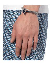 Miansai - Gray Leather and Enamel Anchor Wrap Bracelet for Men - Lyst