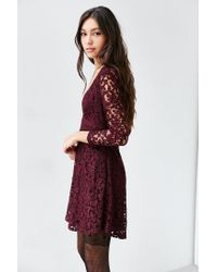 Kimchi Blue - Purple Vixen Babydoll Dress - Lyst