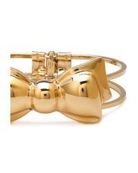 Forever 21 - Metallic Oversized Bow Hinge Bracelet - Lyst