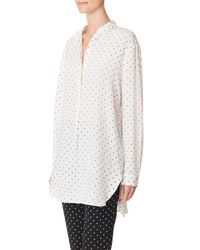 Tibi - White Diffusion Polka Dot Easy Shirt - Lyst