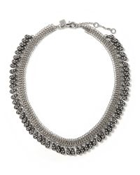 Banana Republic | Metallic Teardrop Fringe Necklace | Lyst