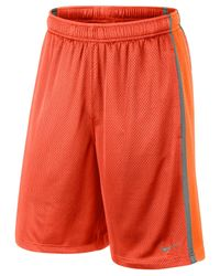 "Nike | Orange Men's 10"" Dri-fit Monster Mesh Shorts for Men 