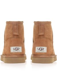 UGG - Brown Chestnut Classic Mini Sheepskin Boots - Lyst