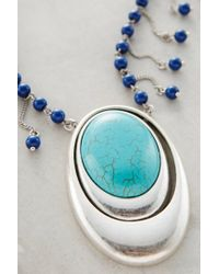 Anthropologie - Blue Opuntia Pendant Necklace - Lyst