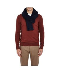 Inis Meáin - Blue Donegal-inspired Ribbed Scarf for Men - Lyst
