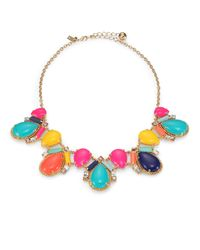 kate spade new york | Multicolor Cabochon Mosaic Collar Necklace | Lyst