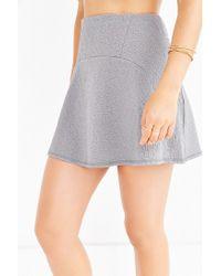 Kimchi Blue - Gray Solie Yoke Skirt - Lyst