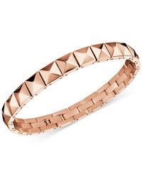 Calvin Klein - Metallic Edge Rose Gold-tone Pvd Stud Bracelet Kj3cpb100100 - Lyst