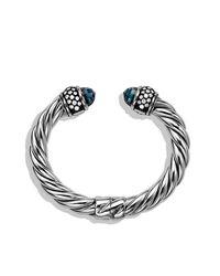 David Yurman - Metallic Cable Classics Bracelet With Diamonds, 10mm - Lyst