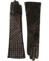 Ermanno Scervino - Black Studded Gloves - Lyst