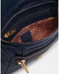 Becksöndergaard - Blue Leather Cross Body Bag with Zip Detail - Lyst