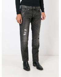 Philipp Plein - Gray 'dallas' Straight Leg Jeans for Men - Lyst