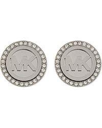 Michael Kors | Metallic Brilliance Pave Stud Earrings | Lyst