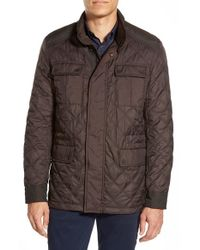 Michael Kors - Brown Water Resistant Quilted Jacket for Men - Lyst