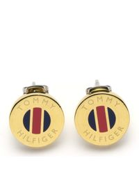 Tommy Hilfiger | Metallic Striped Stud | Lyst